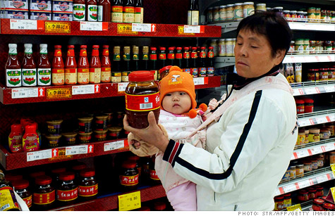 Food prices fell in China in November, according to inflation data released early Friday.