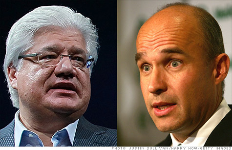 RIM co-CEOs Mike Lazaridis (left) and Jim Balsillie are on the hot seat.