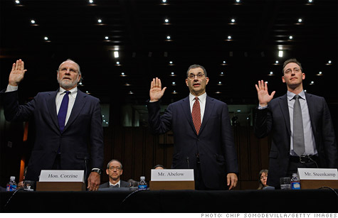 Former New Jersey governor Jon Corzine (left) remains under scrutiny for his role in the MF Global mess.