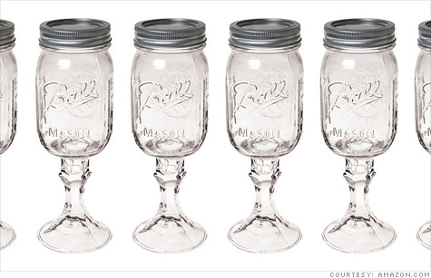 Carson Home Accents'  RedNek Wine Glass -- a Ball Mason jar glued to a Libbey candlestick holder --  is making millions.