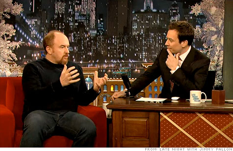 Louis C.K. announced his $1 million sales milestone during a chat with talk show host Jimmy Fallon.
