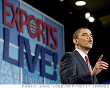Obama details the National Export Initiative.