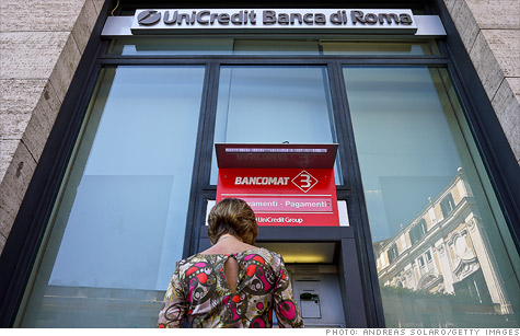 UniCredit's stock took a dive after the Italian bank announced a discounting stock offering to raise capital.