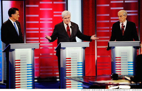 When  it comes to the budget, Mitt Romney, Newt Gingrch and Ron Paul all want to cut spending.