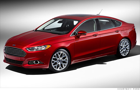 The redesigned mid-size sedan will go on sale as the 2013 Ford Fusion later this year.