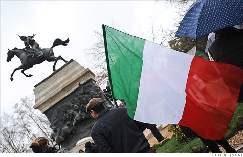 Borrowing costs eased following auctions for Italian bills and Spanish bonds.