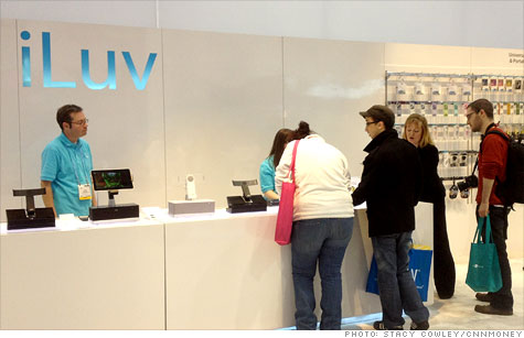 Accessory maker iLuv drew crowds at CES to its Apple store-like showcase of iEverything add-ons.