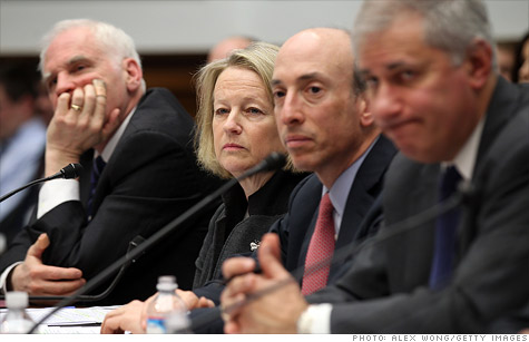 Several regulatory chiefs testified before a House panel Wednesday about enforcement of the Volcker rule.