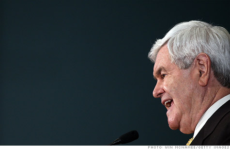 Republican presidential candidate Newt Gingrich said the U.S. should look at returning to the gold standard.