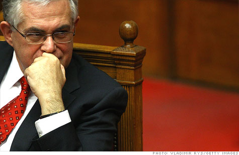 Greek Prime Minister Lucas Papademos is trying to sell a plan that would require bondholders to swallow big losses.