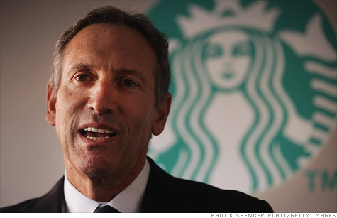 Howard Schultz made $65 million in 2011.
