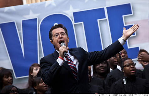 Colbert super PAC reports $1 million in cash.