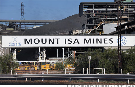 Swiss company Glencore is in the process of acquiring Xstrata, shown here at one of its mining operations in Australia.