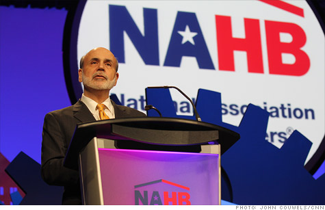 Federal Reserve Chairman Ben Bernanke speaks before the National Association of Home Builders Friday.