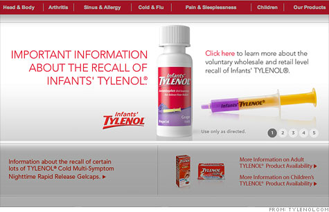 McNeil is recalling more than half a million bottles of Infants' Tylenol because of problems with the dosing syringe.