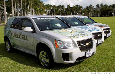 The U.S. Army unveiled a fleet of new hydrogen fuel cell vehicles the military will be testing in Hawaii. The vehicles will be used by the Army, Air Force and Navy.