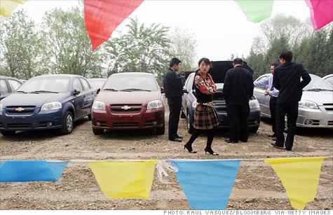 A Chevrolet dealer lot in Beijing