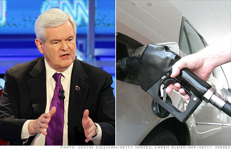 Newt Gingrich has a plan for $2.50 gas.