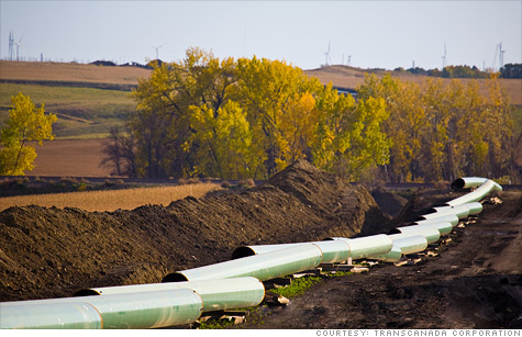 TransCanada announced Monday it will move ahead with a less controversial part of the Keystone XL pipeline to bring crude from Canada's oil sands region to the Gulf of Mexico.