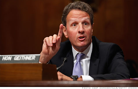 Treasury Secretary Tim Geithner told lawmakers that the debt ceiling likely won't be reached until