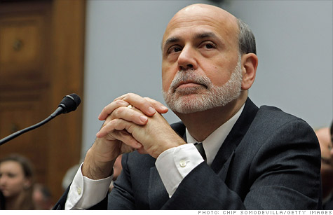 Federal Reserve Chairman Ben Bernanke testifies before Congress Wednesday, noting the job market remains 'far from normal.'