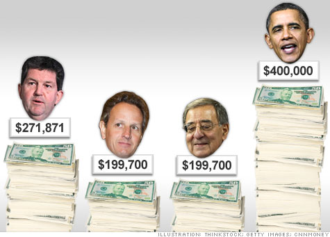 Postal Service chief makes more in pay than Treasury, Defense secretaries.