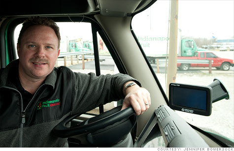 Michael Gilbert, director of logistics at the Indianapolis Fruit Company, ensures truck drivers stay fuel efficient as a way to fight rising gas prices.