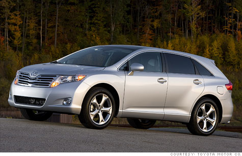 Toyota's latest recall includes 1160,00 Venza crossover SUVs.