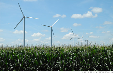 Century Wind Farm in Iowa. The wind industry is the second-largest recipient of government energy subsidies in the renewables sector.