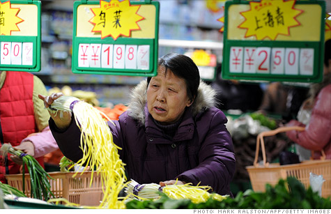 Food prices are still rising in China, but at a much slower pace than last summer.
