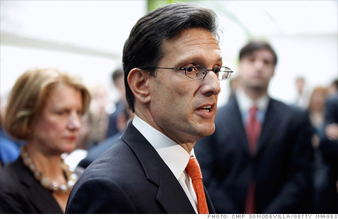 House Majority Leader Eric Cantor pushed to get a bill passed to make it easier for start-up companies to go public.