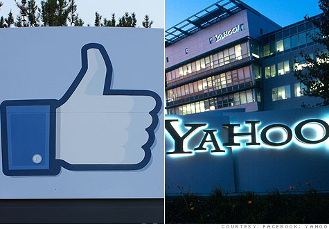 Yahoo is accusing Facebook of patent infringement.