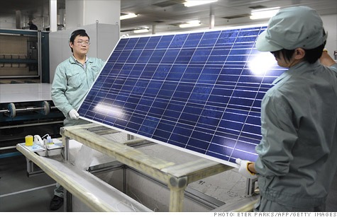 The U.S. Commerce Department announced tariffs on Chinese-made solar panels on Tuesday that it said had benefited from unfair subsidies by Beijing.