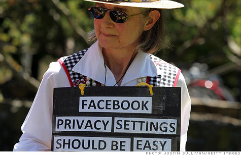 A protest outside Facebook's headquarters in 2010 drew attention to its controversial privacy policies.