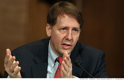 Republicans are still angry at the recess appointment of Richard Cordray, the head of the Consumer Financial Protection Bureau, who testified at a House hearingl on Thursday.