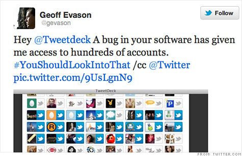 TweetDeck bug gives access to other users' accounts - Mar  30, 2012