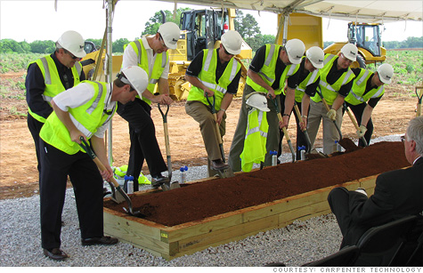 Carpenter Technology broke ground this month on its $518 million plant in Alabama.