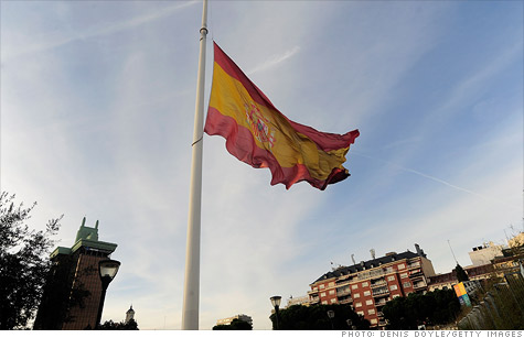 On Monday, Spanish 10-year bond yields jumped to their highest point this year.