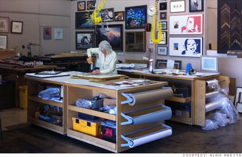 Small business loans taken during the recession have long kept Phoenix shop Framin'Works in debt. Firm owner Alan Abeyta is staying away from taking out any more until business shapes up.
