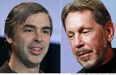 Google CEO Larry Page (left) and Oracle CEO Larry Ellison will testify against one another in the coming weeks.