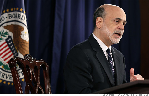 Federal Reserve Chairman Ben Bernanke says the economy is improving, but not quickly enough for the Fed to change its stimulative policies.