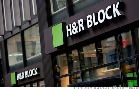 H&R Block said it will cut about 350 full-time positions and close about 200 company-owned offices, which will result in a drop in seasonal temporary employment.
