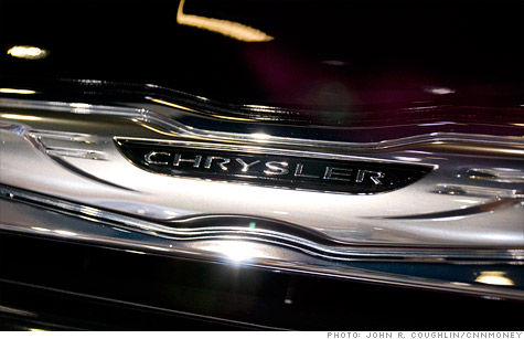 Chrysler reported sharply improved earnings and sales in the first quarter.