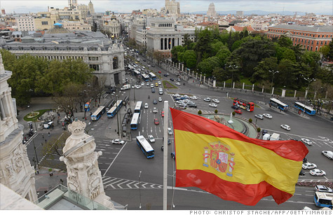 Spain becomes the 12th European nation to report at least two quarters of declining GDP, signifying a recession.