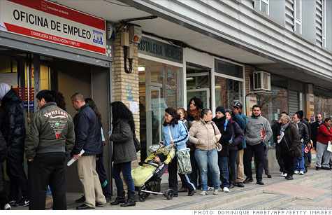 Eurozone unemployment hit a record in March, with Spain's 24.1% rate setting the pace.
