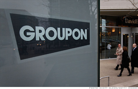 Groupon stock rose Tuesday after the daily deals company reported a narrower loss.