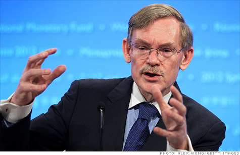 Outgoing World Bank President Robert Zoellick said Wednesday that he's worried about the eurozone.