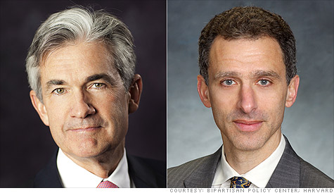 The Senate confirmed Jerome Powell (left) and Jeremy Stein to serve on the Federal Reserve Board of Governors.