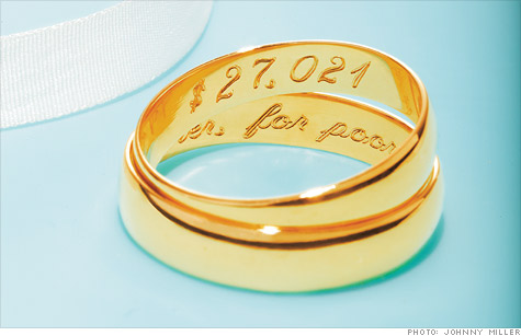 The average cost of a wedding is now north of $27,000, according to the Knot.com.
