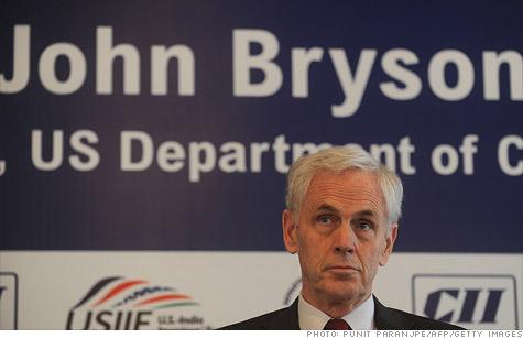 John Bryson has resigned his Commerce post.